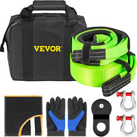 VEVOR Winch Recovery Accessory Snatch Pulley Block Bow Shackle Kit Offroad 8PCS
