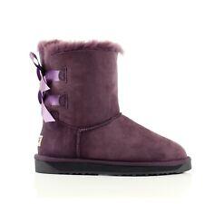 Ugg Boots Sheepskin 100% Australian Wool Ladies Short Back Bow Size 35-40 EU