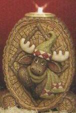 Ceramic Bisque Ready to Paint Rustic Moose Candle Holder ~Medium