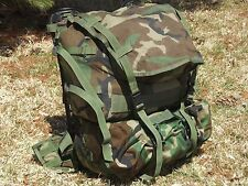 MOLLE II Woodland Camo GI Standard Pack Army Military PALS Backpack Good Cond.