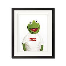 Supreme x Kermit Photo By Terry Richardson Urban Street 22x28 Poster Print