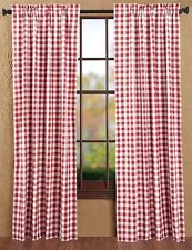 Buffalo Red Check Country Curtain Panel Set of 2 by Victorian Heart - 84 x 40""
