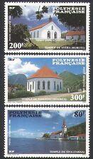 French Polynesia 1986 Churches/Buildings/Architecture/Religion 3v set (n34131)