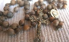JOB'S TEARS SEED Beads UNIQE HANDMADE Rosary Rosaries from Medjugorje 22.4 inc