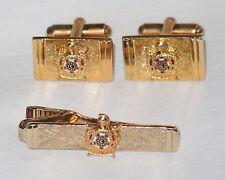 Masonic Coat of Arms CUFFLINKS SET Knight Swords Enamel Gold Crown BALFOUR~MINT!
