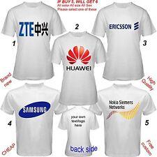 T-shirt Adult S,M,L~5XL,Kids,Baby ZTE Huawei Ericsson Samsung Nokia Siemens BB