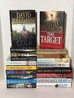 David Baldacci Book Lot Will Robie King and Maxwell Amos Decker