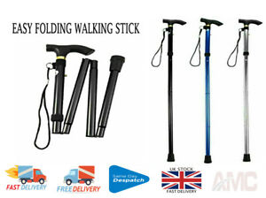 Adjustable Lightweight Easy Folding Walking Stick Collapsible Cane Best oneBay