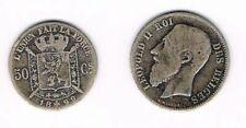 BELGIQUE 50 centimes Cs 1899 LEOPOLD II ROI DES BELGES, argent silver coin