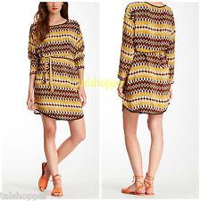 NEW L 10-12 $160 Anthropologie Tolani Boho Olivia Silk Tunic Shirt Belted Dress