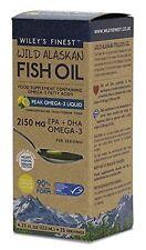Wiley's Finest Wild Alaskan Fish Oil Peak Omega 3 2150mg 125ml BBE:06/2018