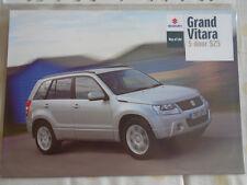 Suzuki Grand Vitara 5 Door SZ5 brochure Oct 2008