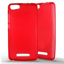 Housse Coque Etui Wiko Lenny 2  silicone gel - Rouge