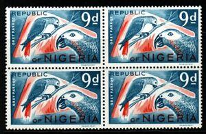 NIGERIA SG179 1966 9d DEFINITIVE MNH BLOCK OF 4