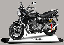 MOTO MINIATURE, YAMAHA 1300 XTR, EN HORLOGE, 03