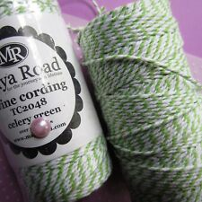 MAYA ROAD ∽ BAKERS TWiNE ∽ 5 (FiVE) METRES ONLY∽ GREEN / WHiTE ∽ CELERY GREEN