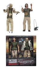 "Texas Chainsaw Massacre Nubbins Sawyer 2-Pack 8"" Clothed Figures NECA"