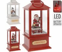 Musical Light Up LED Christmas Lantern Snow Globe Decoration