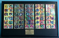 RARE Framed And Uncut Beyblade Tazo Tops Promotional Award Tazos Dizks