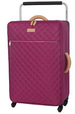 It Luggage Tritex Quilted Large 4 Wheel Persian Red 83cm Suitcase