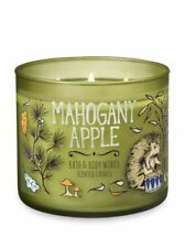 NEW BATH & BODY WORKS☆Mahogany Apple☆3 Wick Scented Candle Fresh Lavender Sprigs