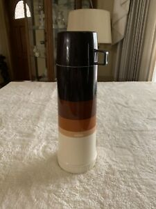 VTG Perfect Thermos King Seeley Autum Colors Vacuum Bottle glass insert flip Lid