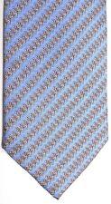 """Daniel de Fasson Men's Silk Tie 59"""" X 4"""" Blue w/ multi-color Geometric/Striped"""