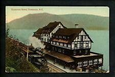 Canada postcard British Columbia BC, Sicamous Hotel train railroad tracks
