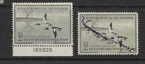 US Scott #RW23 mint lightly hinged & used $2 Duck Stamp 1956 Merganser og f/vf