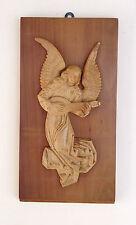 Engel Lautenspieler aus Holz geschnitzt  Relief  Holzrelief* Unikat  27 x 14 cm
