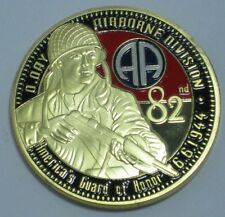 U.S. ARMY 82ND AIRBORNE DIVISION 6TH JUNE 1944 D~DAY COIN