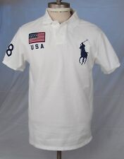 Ralph Lauren 2008 Beijing Olympic Team Pique Polo Short Sleeve Shirt L