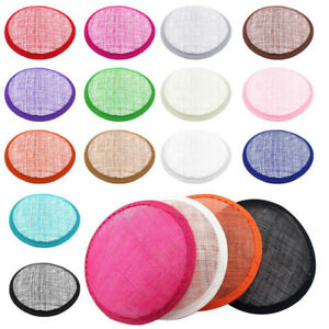 Millinery Craft Making DIY Round Shape Sinamay Base for Fascinator Party Hat