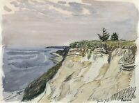 Karl Adser 1912-1995 Steilküste Strand Ostsee Dänemark Kiefer