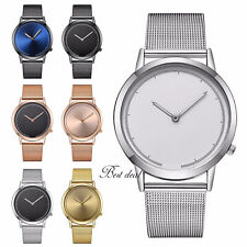 Mens Bracelet Wrist Watches Mesh Strap Quartz Analogue Watch Casual S Steel Uk