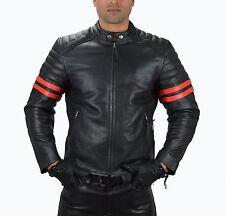 1089.Gr.XXL Leder Motorradjacke Motorrad Jacke Retro lederjacke,Biker Jacket