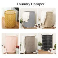 Foldable Laundry Hamper Basket Storage Bin Dirty Clothes Washing Bag  UK