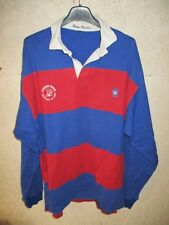 Maillot rugby SAINT-LARY SOULAN porté n°17 SERGE BLANCO vintage coton shirt XL