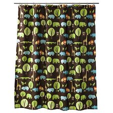 New Circo Jungle Animal Print Shower Curtain 72 in x 72 in