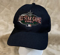 VTG 2001 MLB All Star Game Adult OSFA Snapback Hat Cap Seattle Mariners Baseball