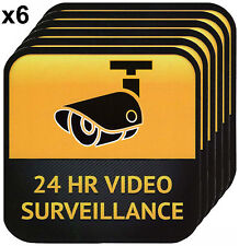 x6 CCTV Warning Sticker, Video Surveillance Vinyl Decal, Security Camera Sign