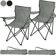 Set 2x Sillas de Camping Plegable Acampada Exterior Bolsa Transporte Playa Nuevo