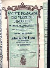 EB1 LOT DE 23 TITRES societe française des verreries d'indochine