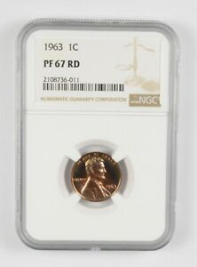 PF67 RD 1963 Lincoln Memorial Cent - Graded NGC *899