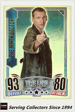 2012 Topps Doctor Who Alien Attax Collectors Card Rainbow Foil#11 The 9th Doctor