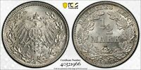 1916-D Germany Silver 1/2 Mark, KM-17, J-16, White Uncirculated BU, PCGS MS66