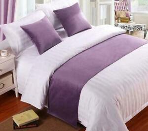 Luxury Velvet Bed Runner Scarf / Bed Tail Towel Hotel Home Bedroom Bedding Decor