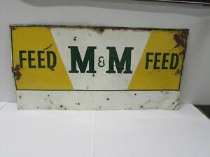 Vintage M & M FEED Tin Sign