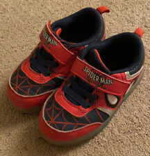 Spiderman light up toddler boys shoes, size 9