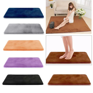 Luxurious Absorbent Soft Memory Foam Bath Mat Bathroom Shower Rug Non Slip Carpe